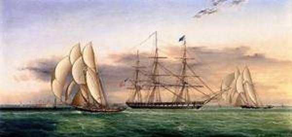 Ships off Castle Garden Date unknown
